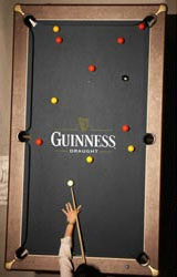 Guinness Pool Table Cloth - Guinness pool table