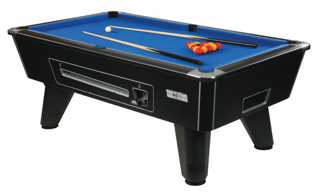 Omega Foot Black Coin Operated Pool Table - Six foot pool table