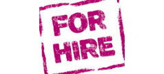 For hire banner