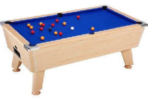 Omega Six Foot Free Play Oak Pool Table